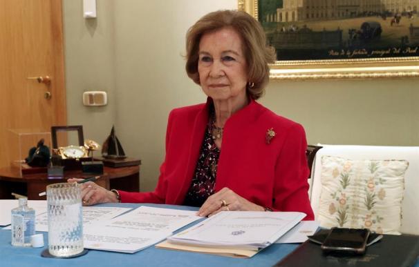 La reina Sofía en la reunión anual de la junta de patronos de la Escuela Superior de Música Reina Sofía