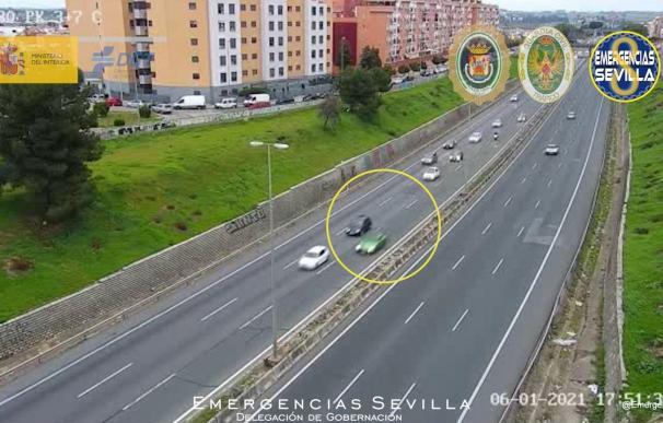 El vehículo de la joven investigada por conducir a 180 kilómetros por hora y subirlo a Instagram.
