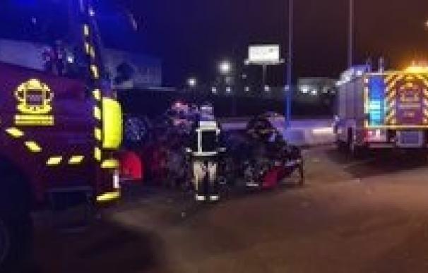 Imagen del accidente ocurrido esta noche en Alcalá de Henares.
