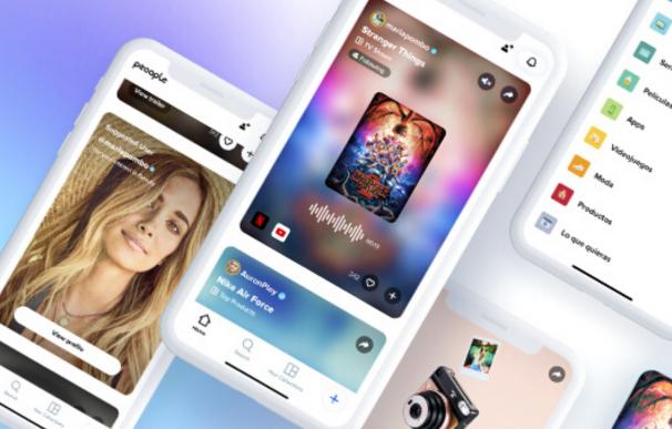 App de Peoople que ofrece recomendaciones de influencers.
