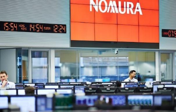 Logo de la firma de inversiones japonesa Nomura.