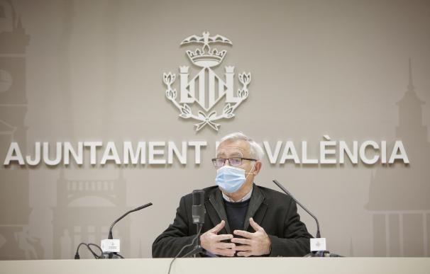 El alcalde de València, Joan Ribó, en rueda de prensa.