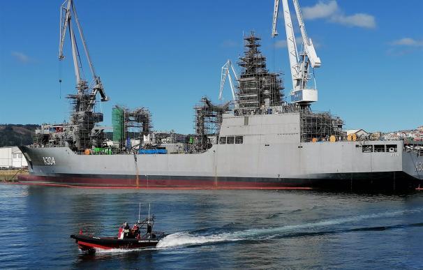 10/03/2021 Buque logístico que Navantia Ferrol construye para la Armada de Australia. ECONOMIA ESPAÑA EUROPA GALICIA