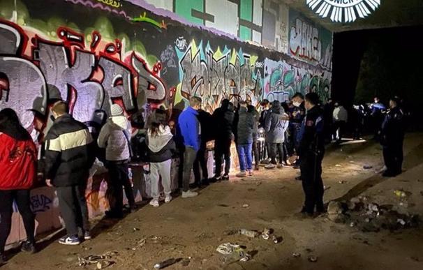 06/04/2021 Desmantelan una 'rave' con 19 jóvenes que bailaban de madrugada en un pasadizo subterráneo de la M-40 ESPAÑA EUROPA MADRID SOCIEDAD POLICÍA MUNICIPAL DE MADRID