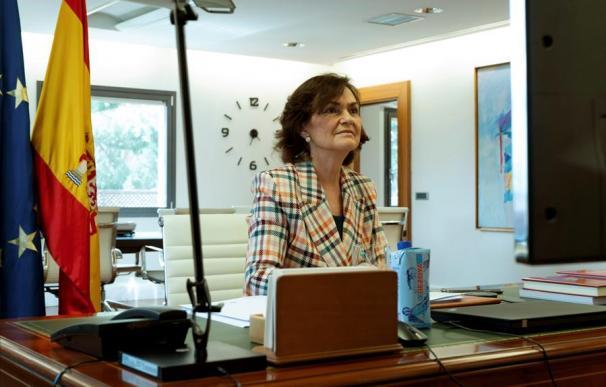 a vicepresidenta primera del Gobierno español, Carmen Calvo
