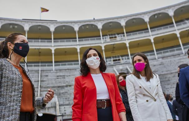 Ayuso en la plaza Las Ventas reabrir el 2 de mayo