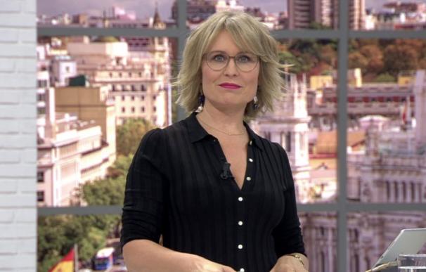 La reputada periodista María Rey al frente de '120 minutos', uno de los formatos de más éxito de Telemadrid.