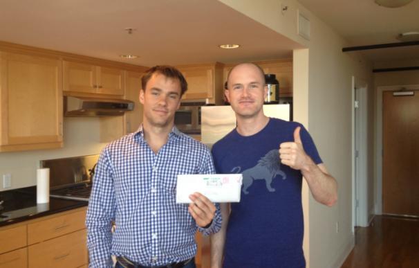 Brian Amstrong (derecha) y Fred Ehrsam (izquierda), fundadores de Coinbase