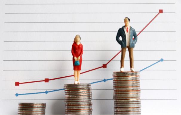 Brecha salarial entre hombres y mujeres.
