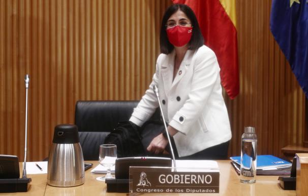 ministra Darias durante una rueda de prensa
