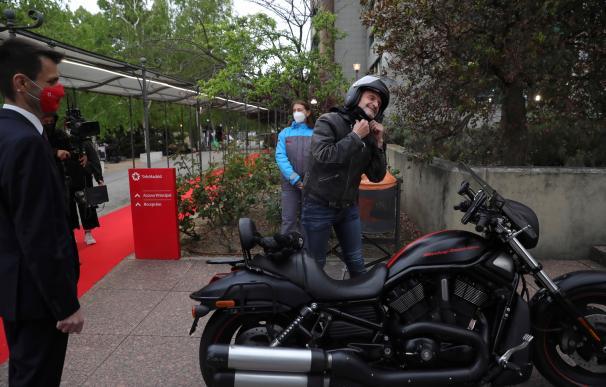 Edmundo Bal en su Harley
