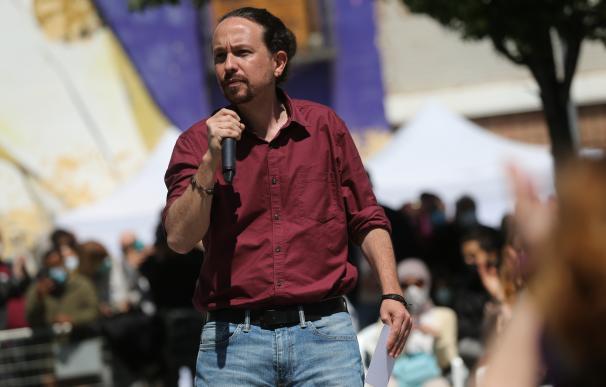 El candidato de Unidas Podemos a la Presidencia de la Comunidad de Madrid, Pablo Iglesias.