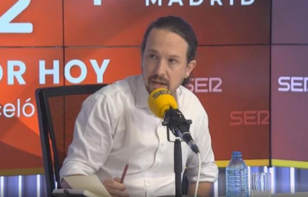 Pablo Iglesias abandona el debate de la Cadena Ser