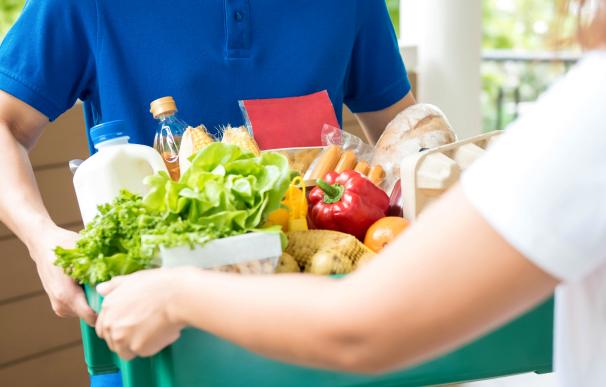 Envíos de compra online en supermercados a domicilio.