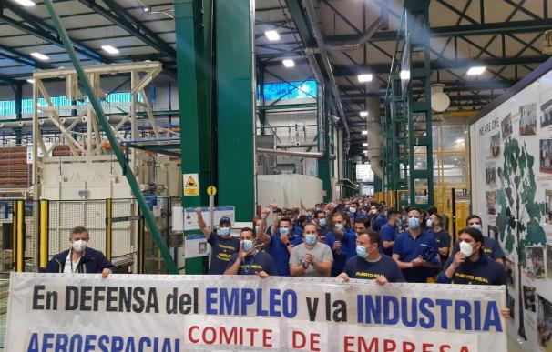 Trabajadores de Airbus en protesta por el posible cierre de Puerto Real SINDICATOS 29/4/2021