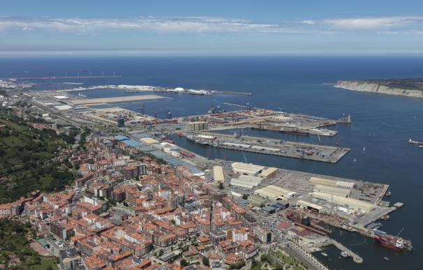 Vista del Puerto de Bilbao