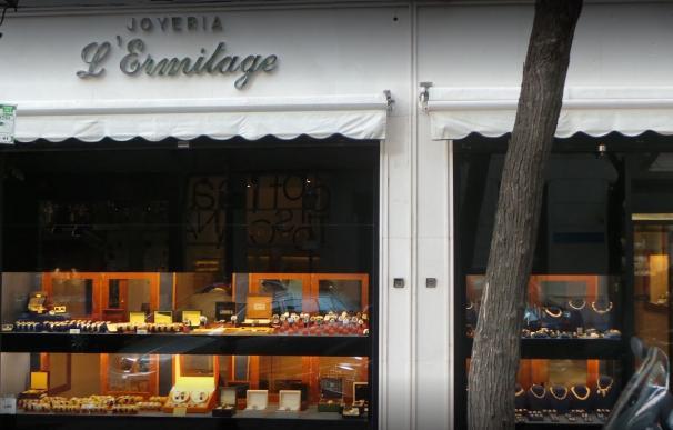 Atraco en joyería de Madrid