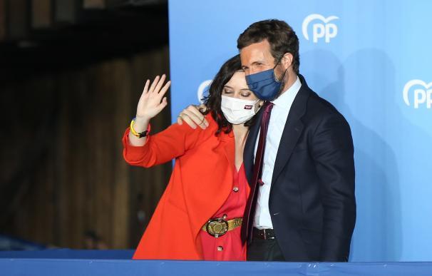 La presidenta de la Comunidad de Madrid y candidata a la reelección por el PP, Isabel Díaz Ayuso;