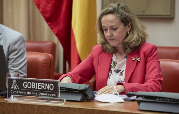 La vicepresidenta segunda del Gobierno y ministra de Asuntos Económicos y Transformación Digital, Nadia Calviño.