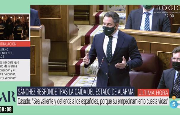 El programa de Ana Rosa Quintana conecta con el Congreso
