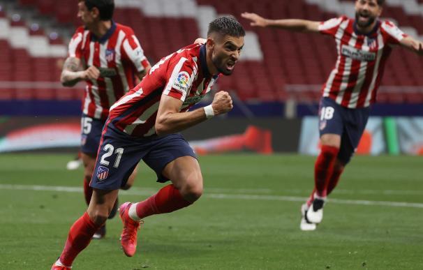 El centrocampista belga del Atlético de Madrid, Yannick Carrasco