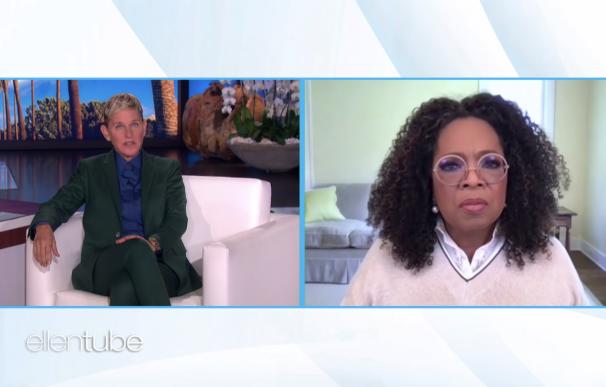 Ellen DeGeneres con Oprah reflexionando sobre el final de su programa