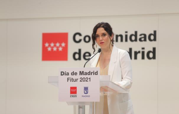 La presidenta de la Comunidad en funciones, Isabel Díaz Ayuso
