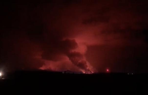 Erupción del volcán Nyiragongo, en el este de República Democrática del Congo (RDC)