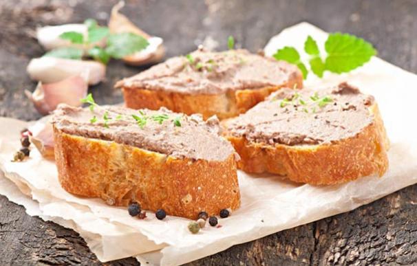 Paté de hígado de cerdo, un alimento alto en grasas y sal