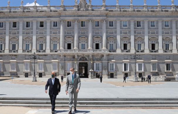 Rey Felipe VI y Sousa se reúnen Mundial 2030