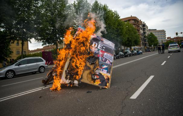 Manifestación de apoyo al rapero Pablo Hasel