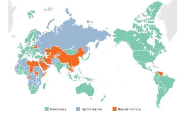 Mapa regímenes mundo