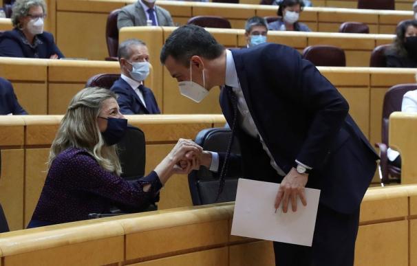 Máxima tensión en el Gobierno entre PSOE y UP en pleno debate por los PGE