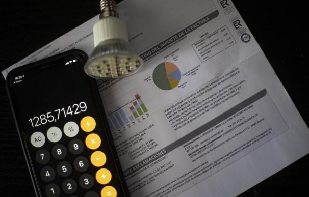 Una factura del consumo de luz, a 10 de septiembre de 2021