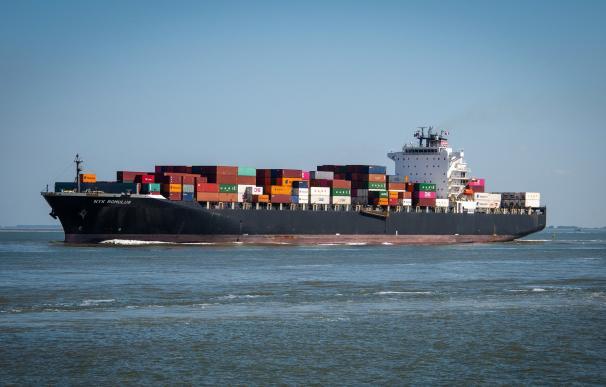 Atasco del transporte marítimo