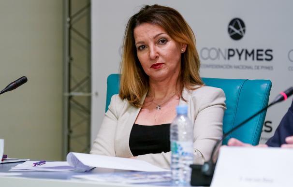 La secretaria general de la unión de autónomos UATAE, Mª José Landaburu durante el acto de presentación de Conpymes, en la Casa Árabe, a 21 de mayo de 2021, en Madrid (España). Conpymes es una nueva patronal de pymes y autónomos de España, un proyecto impulsado por Plataforma Pymes, que ya representa a más de dos millones de empresas. 21 MAYO 2021;COPYMES;EMPRESA;AUTONOMOS;PYMES;PATRONAL A. Pérez Meca / Europa Press   (Foto de ARCHIVO) 21/5/2021