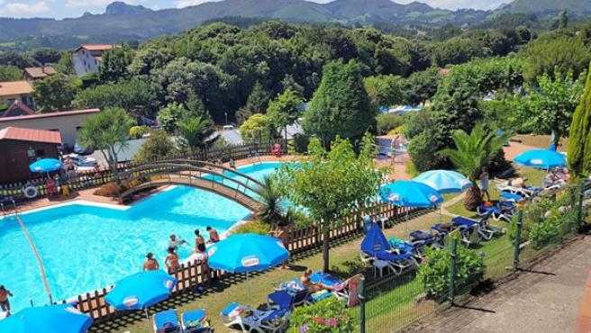 El entorno del camping de Ribadesella (Asturias).