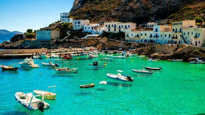 Isla de Levanzo en Sicilia, Italia.