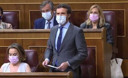 """Casado asegura que Sánchez ha sacado a """"nueve delincuentes de la cárcel"""""""