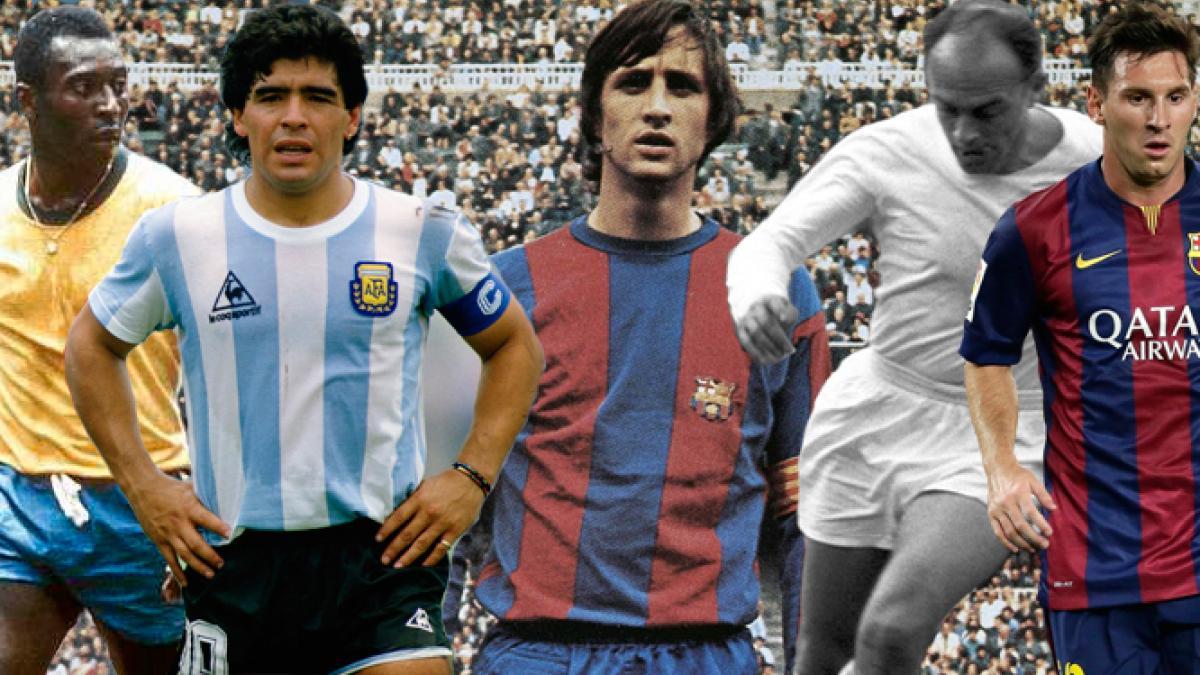 Johan Cruyff, probablemente el quinto grande de la historia del fútbol