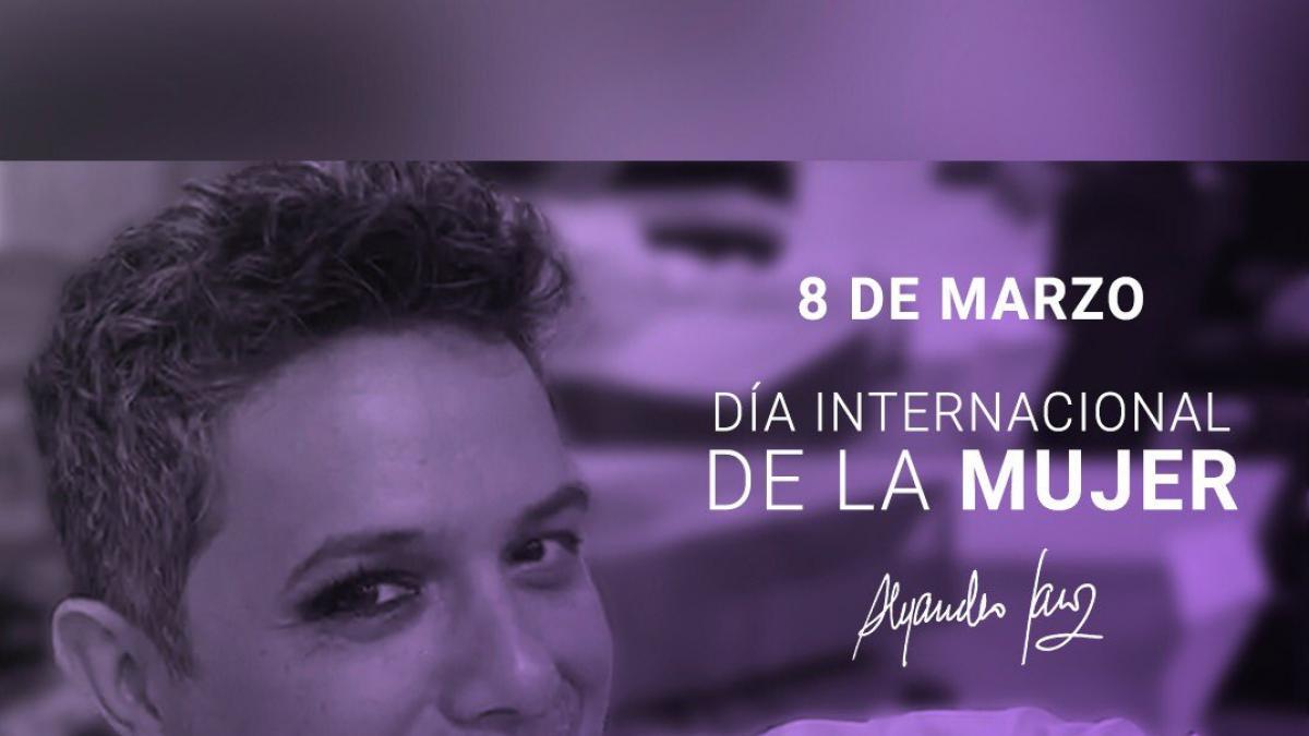 Alejandro Sanz y Alfred García criticados por buscar protagonismo en el 8M