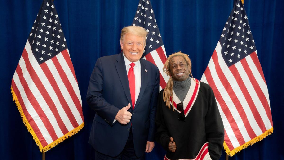 La novia de Lil Wayne le deja después de que mostrase su apoyo a Trump