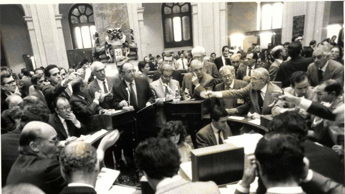 La nostalgia de la bolsa de Madrid: más de 30 años sin corros sobre el parqué